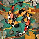 Koi Watergarden Jade by Karin Taylor