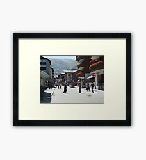 Tourism in Zermatt Switzerland Framed Print