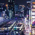 Tokyo Trains at Night by TokyoLens