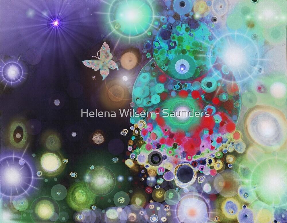 Purple Space Butterfly by Helena Wilsen - Saunders