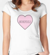 I Heart Anthropology Fitted Scoop T-Shirt