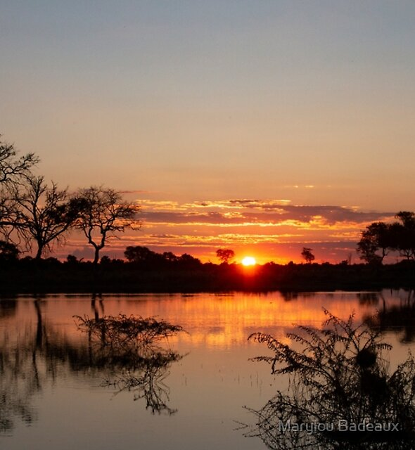 Sunset in the Delta by Marylou Badeaux