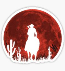 Pegatina Red Dead Redemption 2-Red Moon-Cowboy