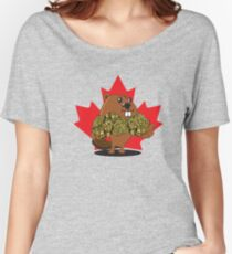 Bud The Beaver Women's Relaxed Fit T-Shirt