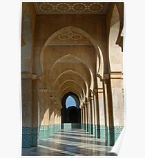 Archway Gallery at Hassan II Mosque, Casablanca, Morocco  Poster