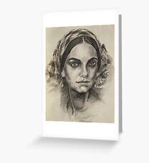 Female portrait 2 Greeting Card