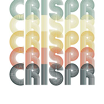CRISPR Cas9 Vintage Retro Science Biology by KNEI