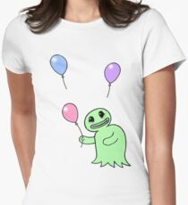 The little happy ghoul with balloons Womens Fitted T-Shirt