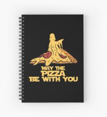 May The Pizza Be With You Spiral Notebook