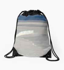 Antarctic glacier Drawstring Bag