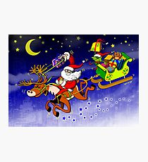 Santa's Gift Delivery with a Slingshot! Photographic Print