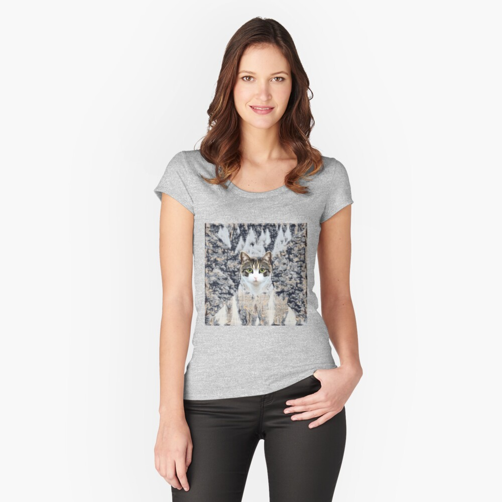 Winter Cat Fitted Scoop T-Shirt
