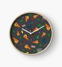 Fiesta de pizza 420 Reloj