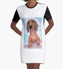 dachshund Max  Graphic T-Shirt Dress