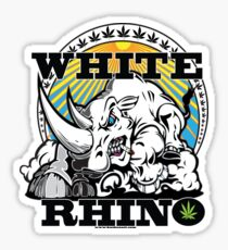 White Rhino Sticker