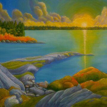 Morning On The Lake by wekegene