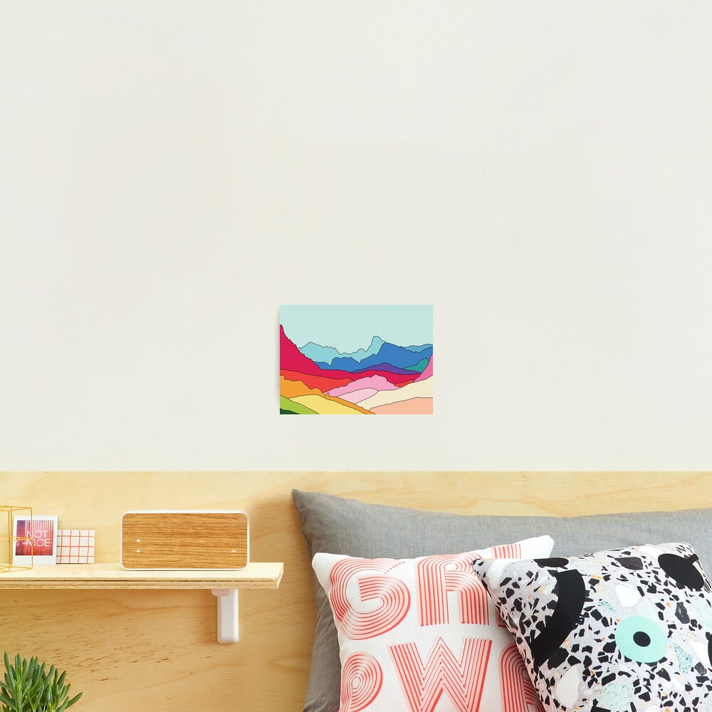 Rainbow mountains by Elebea Photographic Print