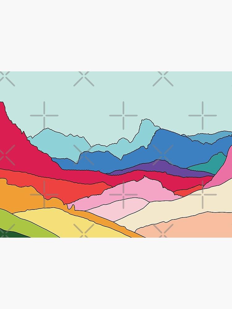 Rainbow mountains by Elebea by elebea