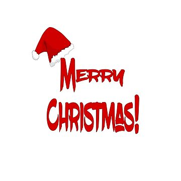 Merry Christmas T-Shirt  Santa Hat by AbdelaaliKamoun