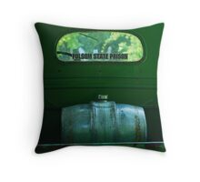 Old Truck With Keg Tank Throw Pillow