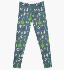 Green House Pattern Leggings