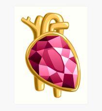 Heart Organ Jewels Jewelry Precious Diamonds Gems Precious Gift Art Print