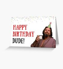 Happy birthday dude, meme greeting cards Greeting Card
