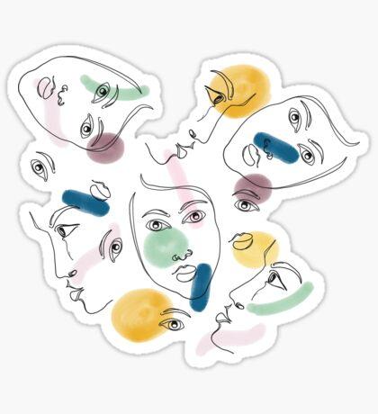 Female Portraits #redbubble #figurative Glossy Sticker