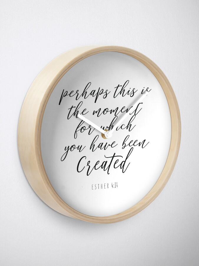 Alternate view of Esther 4:14  - Bible Verse Clock