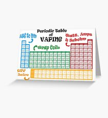 Vape Design Periodic Table of Vaping Greeting Card