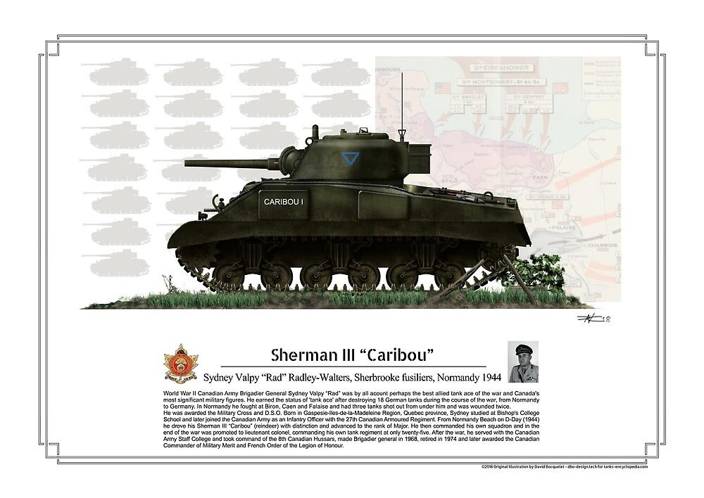 Sherman III Canadian Tank ace Sydney Rad Valpy