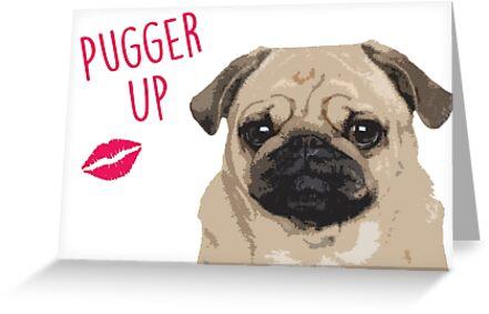 Pugger hoch! - Mops Valentinstag von fashprints