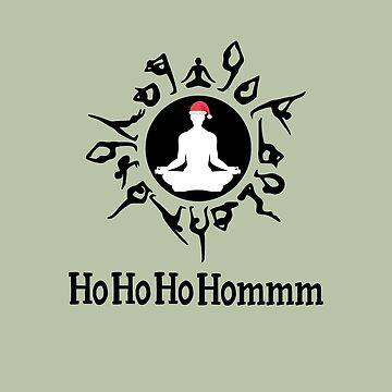 Yoga Christmas design - Meditating Santa by JuditR