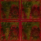 WINDOW PANE OF DAISIES by Spiritinme