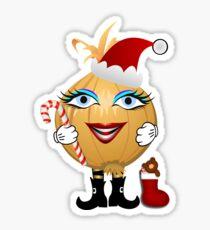Weihnachts Zwiebel Sticker