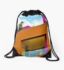 Slanted Orange  Drawstring Bag