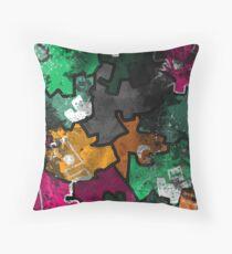 Grunge Castle Throw Pillow