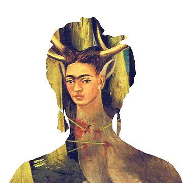 Frida Kahlo Portrait Wounded Deer by savantdesigns