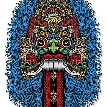 Balinese Demon Mask Color by Skullz23