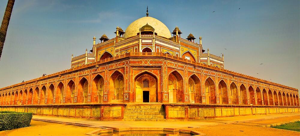 North India - Humayun's  tomb - New Delhi 5 by Geoffrey Thomas