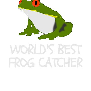 Funny Worlds Best Frog Catcher T-Shirt For Boys Girls Kids by UrbanHype