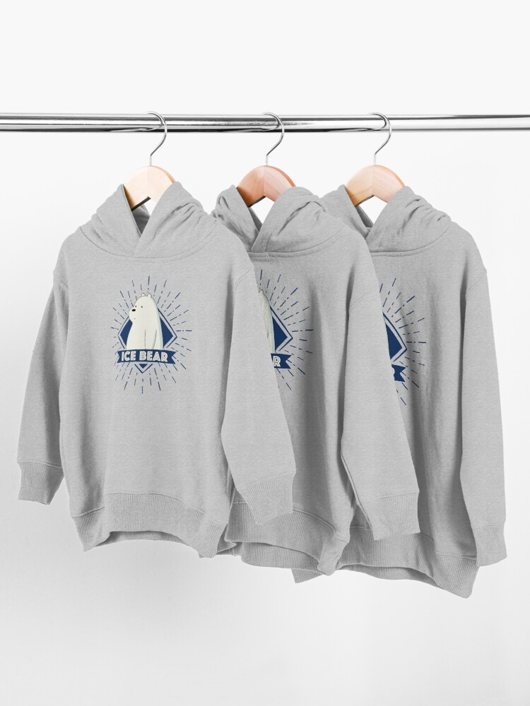 Alternate view of Ice Bear Toddler Pullover Hoodie