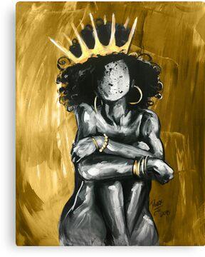 Naturally Queen IX GOLD Canvas Print