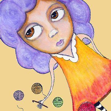 Crochet Girl by peaceofpistudio