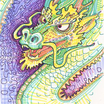 Dragon drawing - 2015 by gwennpaints