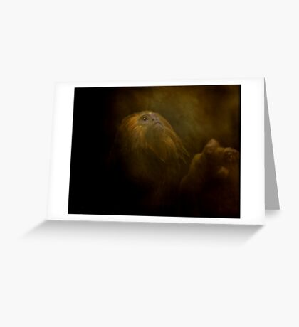 Primate At Thought Greeting Card