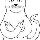Funny Rude Cat by rott515