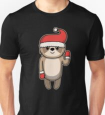 Animal Kid Sloth Christmas Winter Gift Unisex T-Shirt