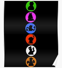 Crazy Silhouettes Poster