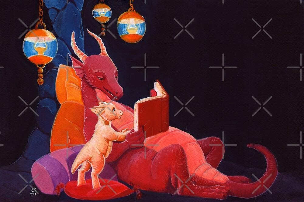 Storytime dragon style by Valériane Duvivier